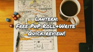 Lantern: The Free Survival Roll & Write RPG Quick Review