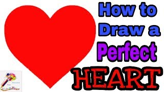 Valentines Day Craft | How To Draw A Perfect Heart - Step By Step Tutorial | Heart Craft