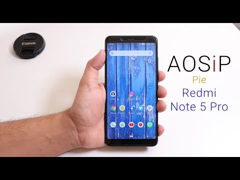 AOSP Extended AEX Rom November for Redmi Note 5 Pro/AI