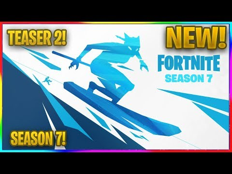 New Fortnite Season 7 First Teaser Image Snowboarding Skiing