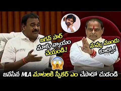 See What Speaker Did When Janasena MLA Rapaka Speaking || MLA Rapaka Excellent Speech || NSE