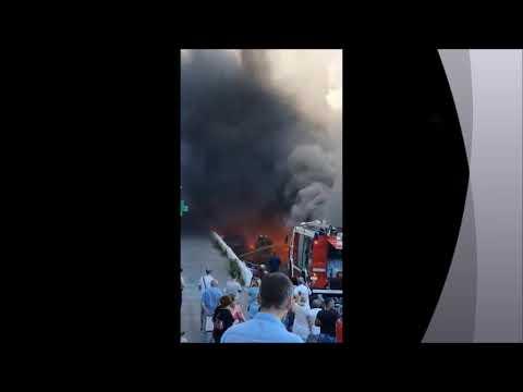 В Геленджике горит центральный рынок