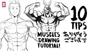 How To Draw Muscles | ANY BODY TYPE With 10 Art Tips