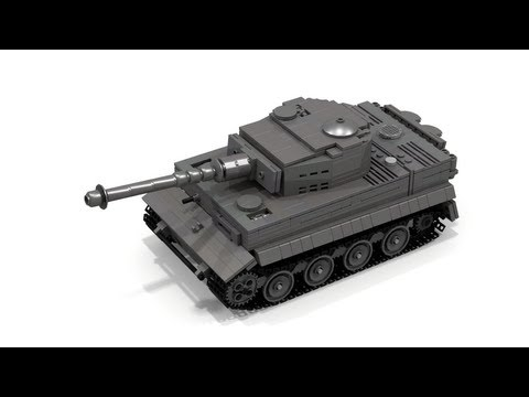 0 【作り方】レゴ+戦車+Tiger1