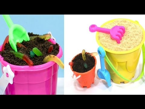 Dirt Cake and Sand Cake *NO BAKE Cake Recipe Idea For Kids by CakesStepbyStep