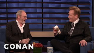"""Liam Cunningham Brought Conan The Infamous Coffee Cup From """"Game Of Thrones"""" - CONAN on TBS"""