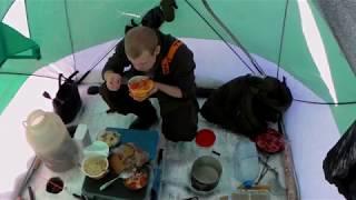 Рыбалка зимой в палатке 20 градусов
