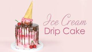 Melting Ice Cream Buttercream Drip Cake Tutorial