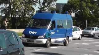 preview picture of video 'Viele bunte Einsatzfahrzeuge + viel Horn (ein Zug) von THW/Feuerwehr [Hochwasser Dresden 2013] (HD)'