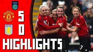 Highlights | Manchester United Women 5-0 Aston Villa Ladies | FA Women