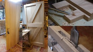 Making a traditional framed ledge and brace door in Oak