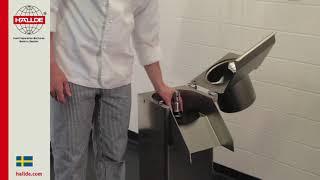 RG-300i: Matarcylinder, skärverktyg och trattmatare