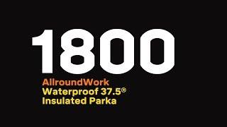 Snickers 1800 AllroundWork, wasserdichter 37.5® isolierter Parka, navy-schwarz