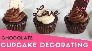 Easy Chocolate Cupcake Decorating | Valentines Day