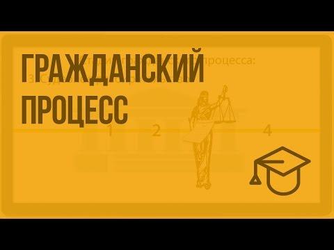 Гражданский процесс. Видеоурок по обществознанию 10 класс