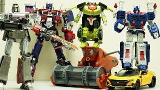 Transformers Stop motion - Optimus Prime vs Megatron, Ultra Magnus x Disney Cars & Tobot Lego Robot