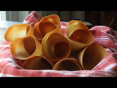 Make Your Own Ice Cream Cones! How to Make Crispy Sugar Cones - Ice Cream Cone Recipe