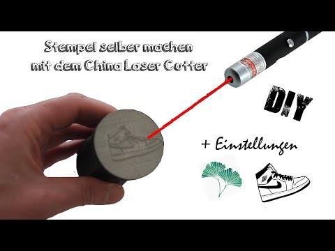 Stempel selber machen | DIY mit dem China Laser Cutter inkl. Lasergravur & Einstellungen | Deutsch
