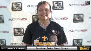 2022 Janeigha Stutesman Middle Infield, Pitcher, First Base Softball Skills Video - Esprit Fastpitch