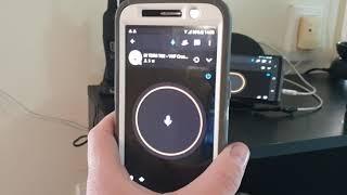 Simple UHF radio to mobile phone Crosslink using Zello