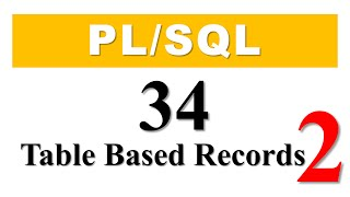 PL/SQL tutorial 34: Table Based Record datatype in Oracle Database Part 2