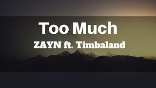 ZAYN - Too Much ft. Timbaland (Lyrics) | Panda Music