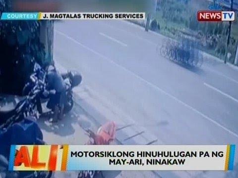 [GMA]  BT: Motorsiklong hinuhulugan pa ng may-ari, ninakaw