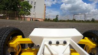 3d printed rc car - Tarmo 4 first test. Onboard FPV Video.