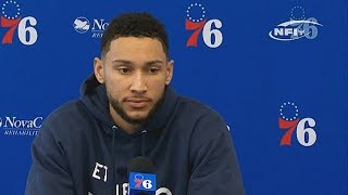 Ben Simmons Gets Sixers Reporter Frustrated By Not Shooting 3 Point Shots During The Season!