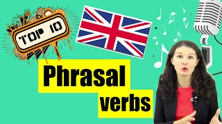 10 самых распространённых фразовых глаголов с примерами [по ПЕСНЯМ]  ♫♫