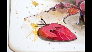 Watercolour Painting Of Leaf Bugs