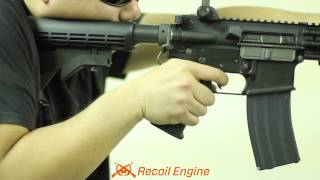 """Страйкбол,  Blowback Armory """"Simulated Recoil Engine"""" Quick Demo with WE M4 Gas Blowback Airsoft Rifle"""
