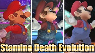 Evolution Of Stamina Death Animations In Super Smash Bros