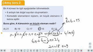 Eğitim Vadisi TYT Matematik 4.Föy Ardışık Sayılar Konu Anlatım Videoları