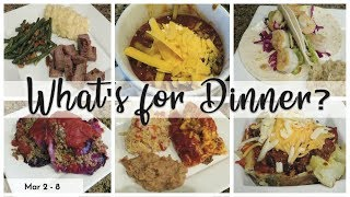 WHAT'S FOR DINNER | EASY DINNERS | COOK WITH ME  | MAR 2 - 8