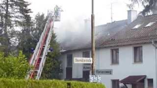 preview picture of video 'Brand mehrerer Reihenhäuser in Bachmehring bei Wasserburg am 02.07.2013'