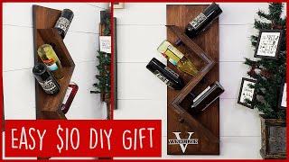 $10 DIY Christmas Present | Personalized Wine Rack