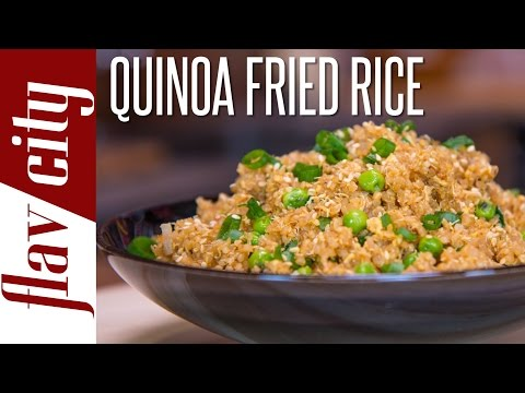 Quinoa Fried Rice - Easy Quinoa Recipe - FlavCity with Bobby