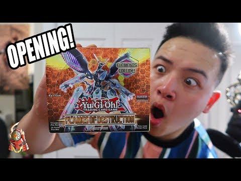 Yu-Gi-Oh! BEST! FLAMES OF DESTRUCTION BOOSTER BOX OPENING 2018 TCG! (TCG FLOD 2018)