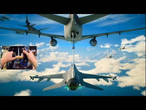 Ace Combat 7 - REFUELLING MID AIR MISSION w/Thrustmaster Flight Stick!