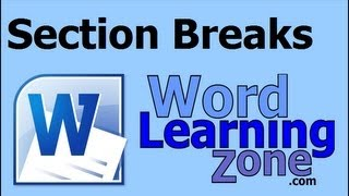 Microsoft Word Section Breaks & Page Numbering
