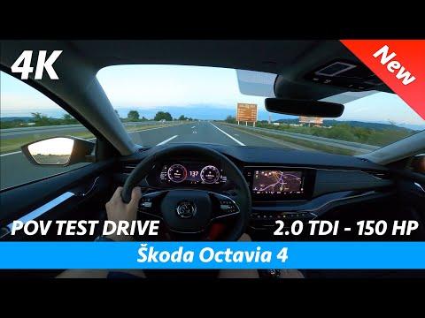 Škoda Octavia 4 2020 - POV test drive in 4K | 2.0 TDI - 150 HP, 0 - 100 km/h