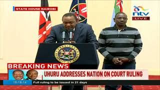 Uhuru speaks on election case blow - VIDEO