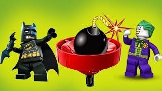 СУМАСШЕДШИЙ КРУЖИТЦУ ВЗОРВЕТ ВЕСЬ ГОРОД! Лего мультики Бэтмен и Джокер. Мультфильмы про Супергероев.