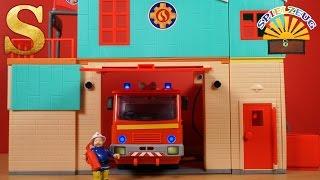 RIESIGE Feuerwehr Station! Feuerwehrmann Sam Spielzeug von Simba neu 2016