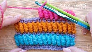 How To CROCHET BULLION STITCH - Using 2 Crochet Hooks Tutorial