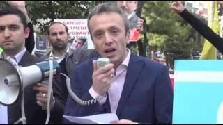 SAMSUNLU ALPERENLER TÜRKMENLERE YAPILAN SALDIRILARI PROTESTO ETTİ