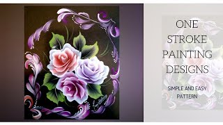 One Stroke Painting | Decorative Painting | Acrylic Painting | DIY