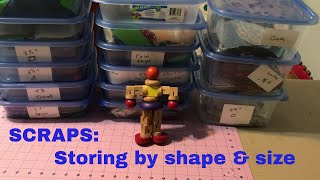 SCRAPS: How I Store Larger Shapes And Cuts Of Fabric