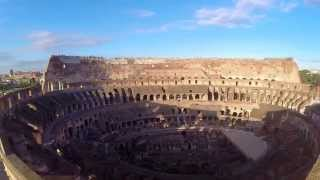 preview picture of video 'Dji PHANTOM 2 OVER/AROUND/IN THE COLOSSEUM IN ROME'